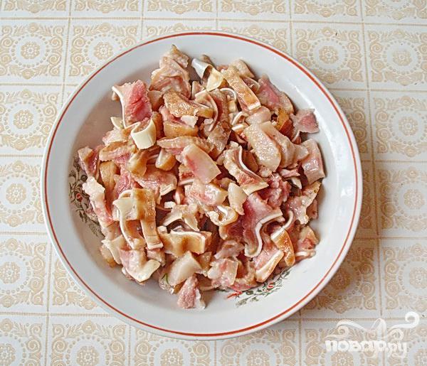Острая закуска из свиных ушей - фото шаг 3