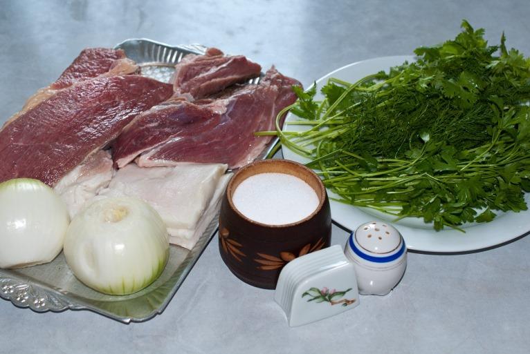 Рецепт Фарш из говядины и свинины