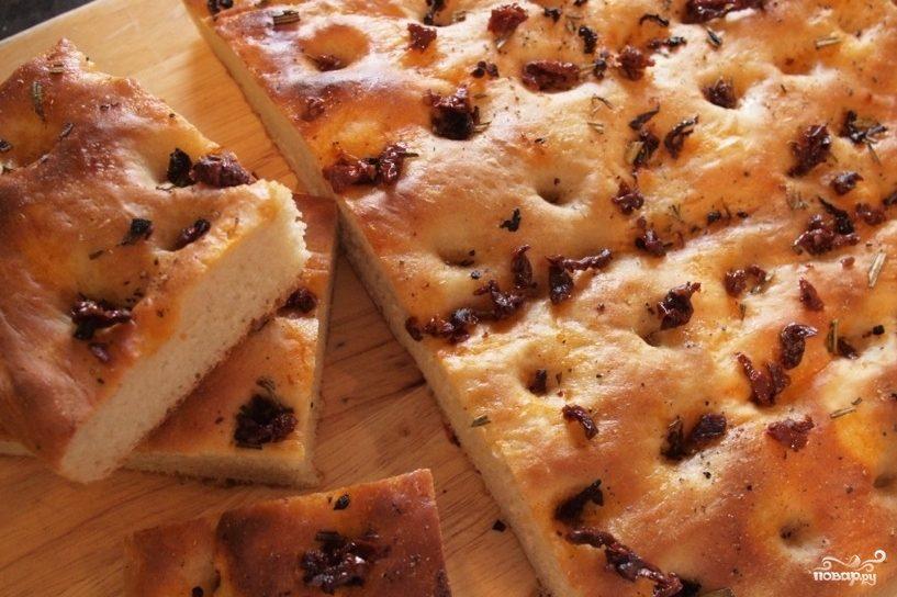 Рецепт Фокачча с вялеными помидорами
