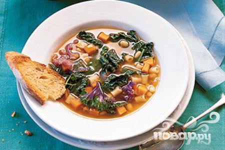 Рецепт Суп с кале, фасолью и сладким картофелем