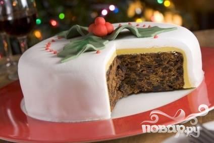 Английский рождественский пирог с коньяком
