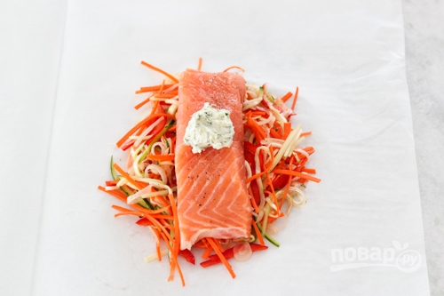 Рыба в духовке с овощами - фото шаг 8