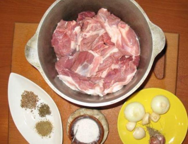 Рецепт Баранина в казане с картошкой