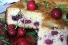 Дрожжевой пирог с вишней