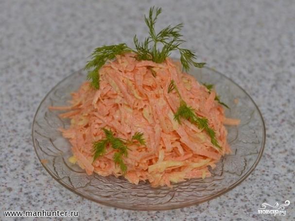 Салат из маркови с сыром фото