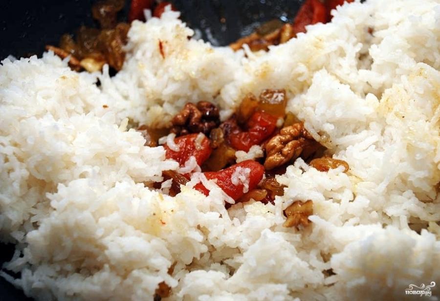 Постная рисовая каша с сухофруктами - фото шаг 4