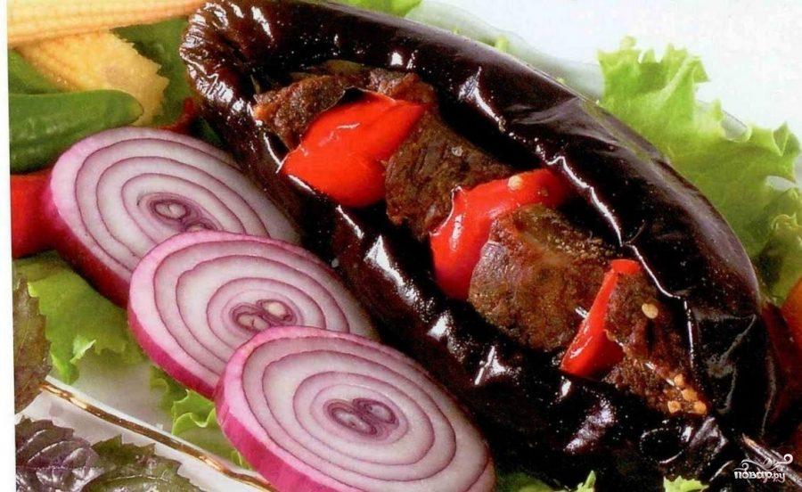 Рецепт Мцвади в баклажанах