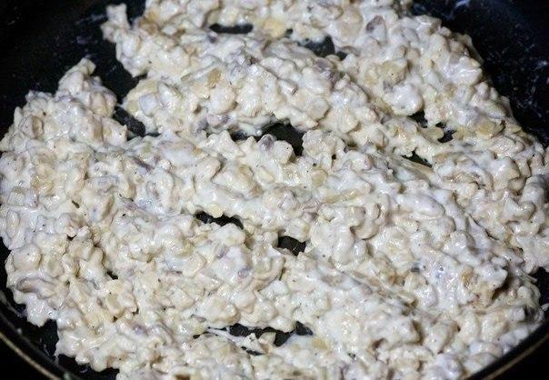 Шампиньоны с курицей и сыром - фото шаг 5