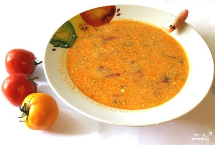 Итальянский суп с креветками - фото шаг 7