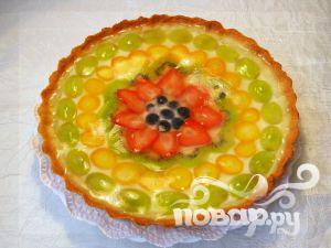 Рецепт Фруктовый торт со сливочным кремом и желе