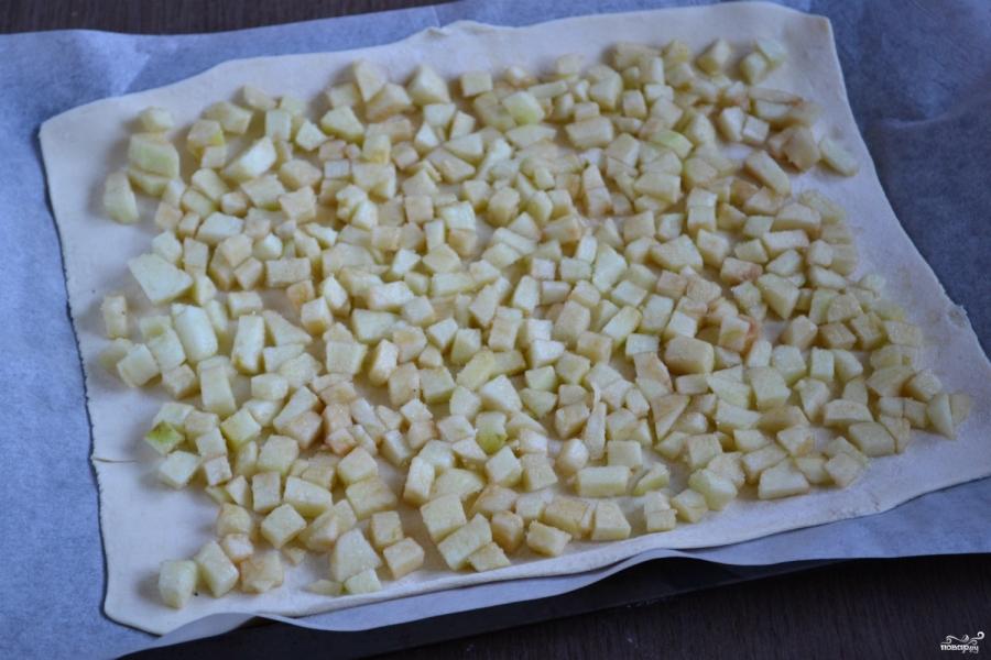 Пирог из слоеного теста с яблоками - фото шаг 5