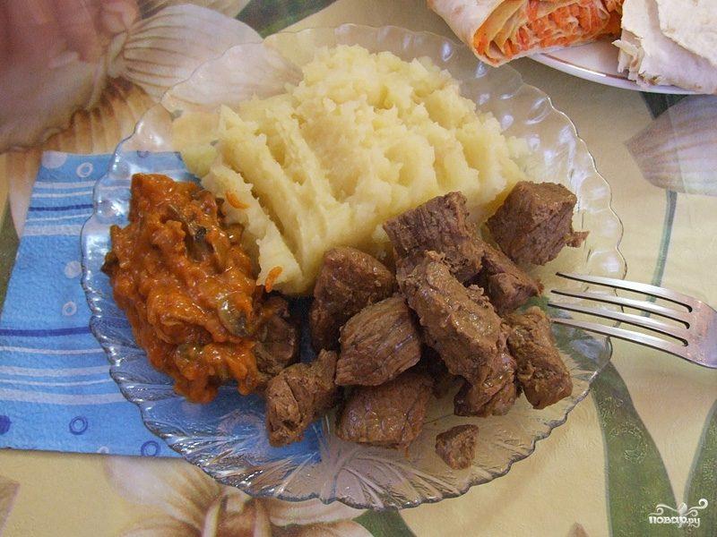 Тушеное мясо в собственном соку