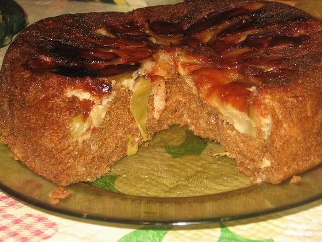 """Пирог с яблоками в мультиварке """"Панасоник"""" - фото шаг 7"""