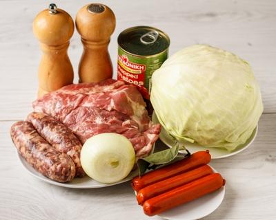 Рецепт Капустная солянка с мясом