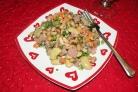 Салат с бобами и ветчиной