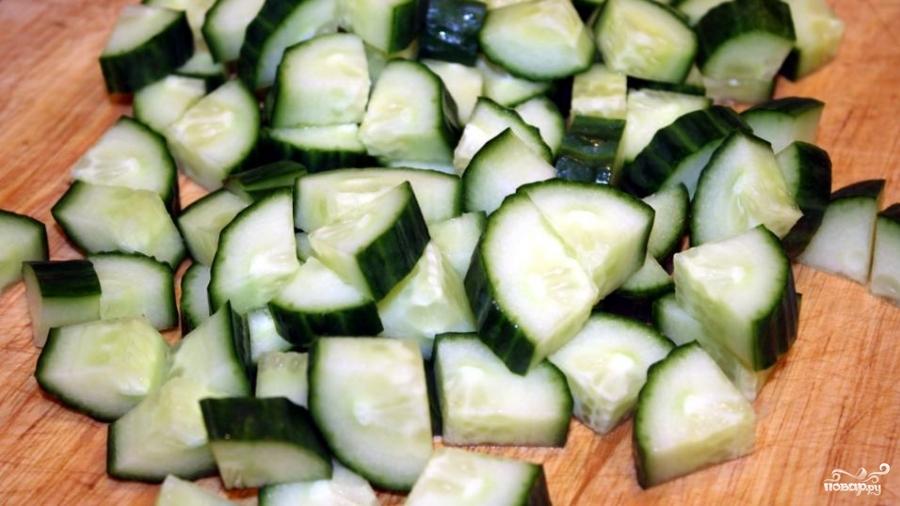 Рецепт Греческий салат из огурцов