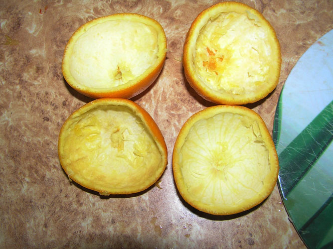 Желе в апельсине - фото шаг 3