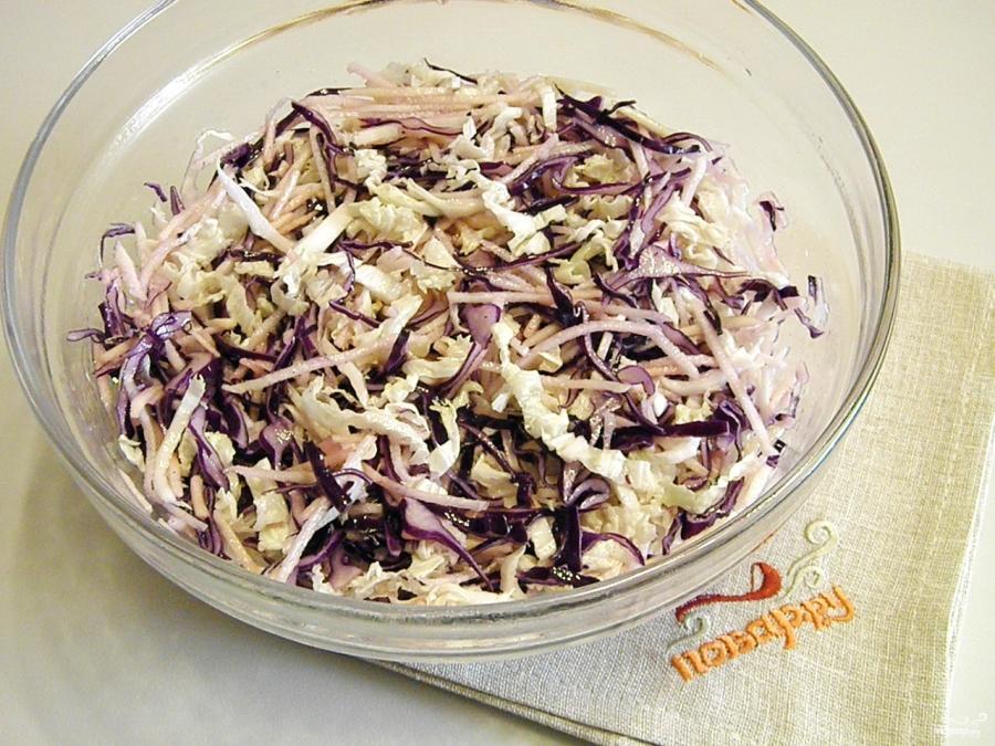Салат к лапше - фото шаг 4