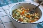 Салат из кукурузы, болгарского перца и авокадо