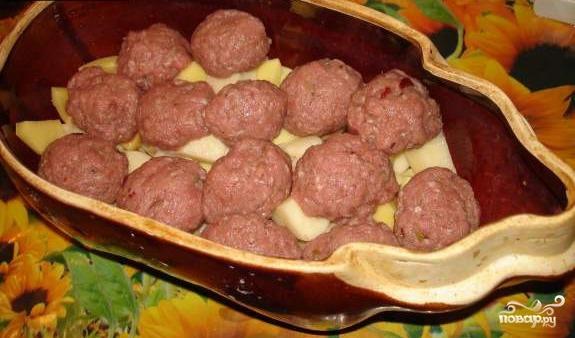 Картофель с фрикадельками - фото шаг 5