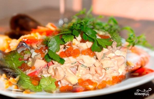 Кулинария салаты с фото с красной икрой