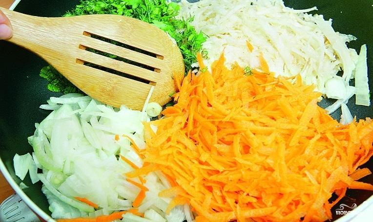 Болгарский перец, фаршированный овощами - фото шаг 4