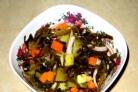 Вкусный салат из морской капусты