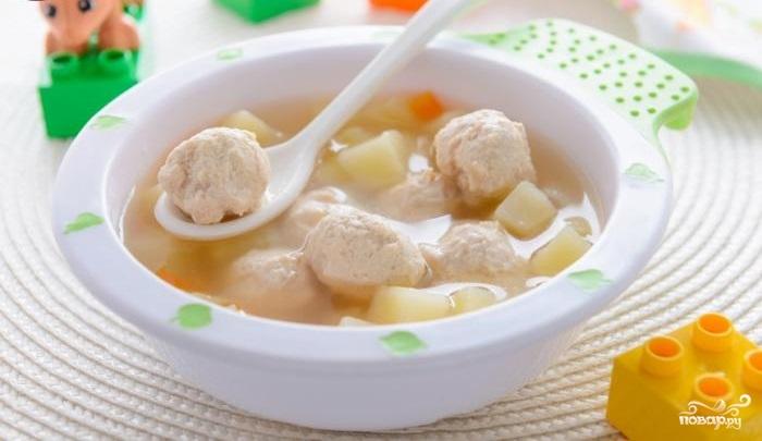 Суп со свининой для ребенка
