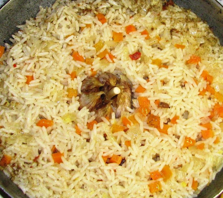 Рис с морковью и луком