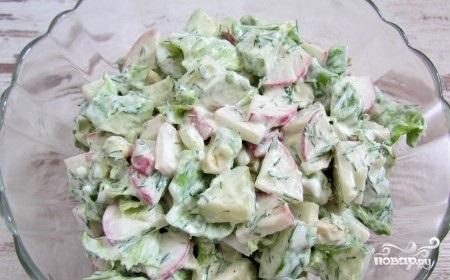 Салат из авокадо и редиса - фото шаг 6