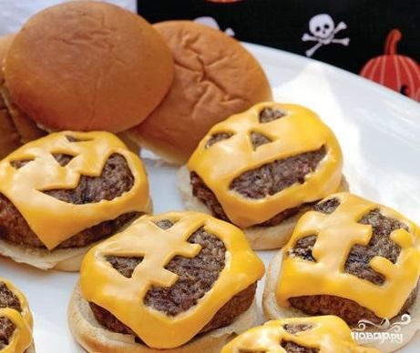 Рецепт Гамбургеры на Хэллоуин