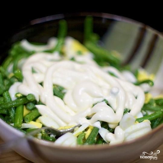 Салат из стручковой фасоли - фото шаг 8