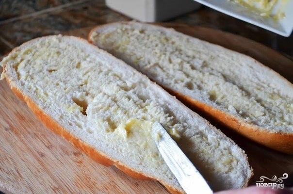 Хлеб с сыром и чесноком в духовке - фото шаг 4