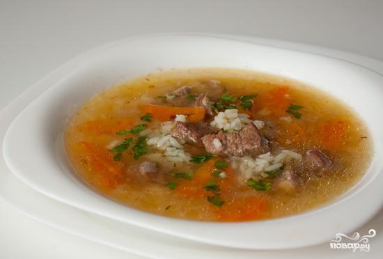 Рецепт Суп из говядины с рисом и овощами