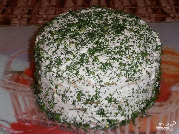 Блинный пирог с курицей и грибами - фото шаг 16