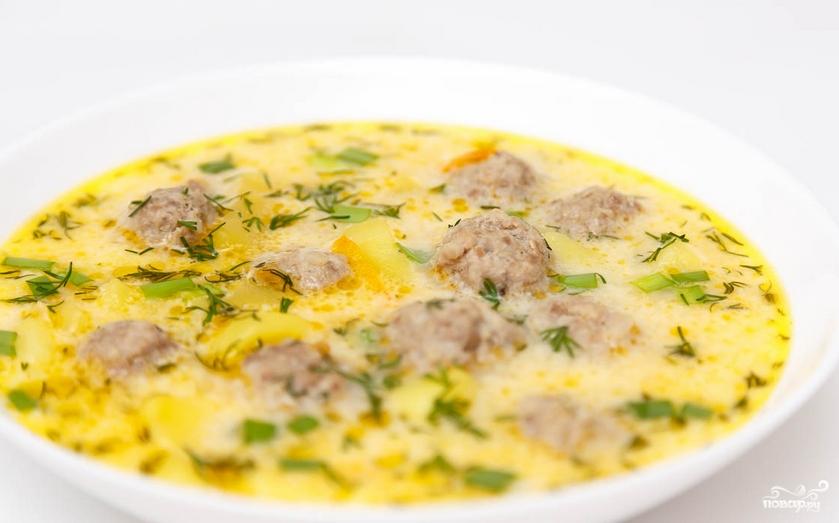 Суп с фрикадельками пошаговый рецепт видео