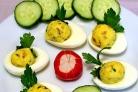 Яйца с майонезом и чесноком
