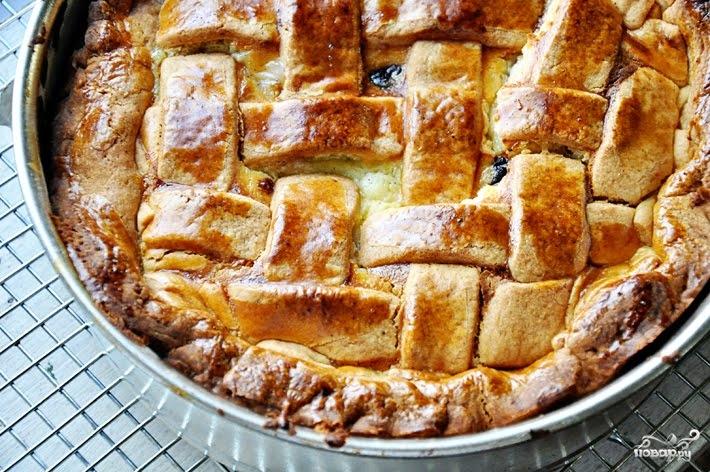 Рецепт Пасхальный пирог с рикоттой
