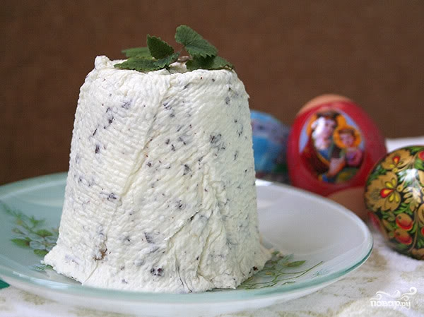 Рецепт Сырная пасха с шоколадом