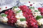 Салат из сельди Рождество
