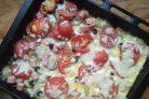 Картофельная пицца с помидорами