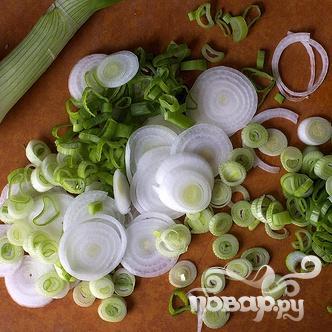 Сливочный соус с луком и мангольдом - фото шаг 2