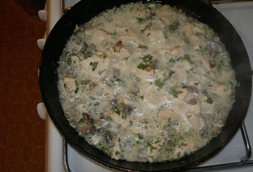 Филе курицы с грибами - фото шаг 5