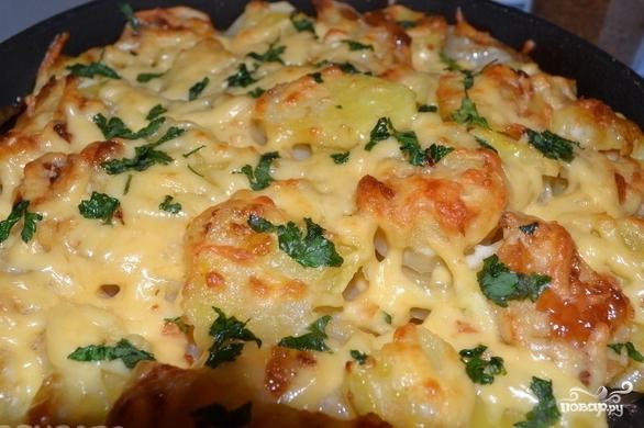 Картошка с чесноком и сыром - фото шаг 8