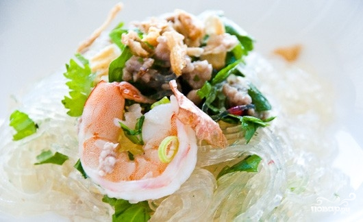 Салат с лапшой - фото шаг 4