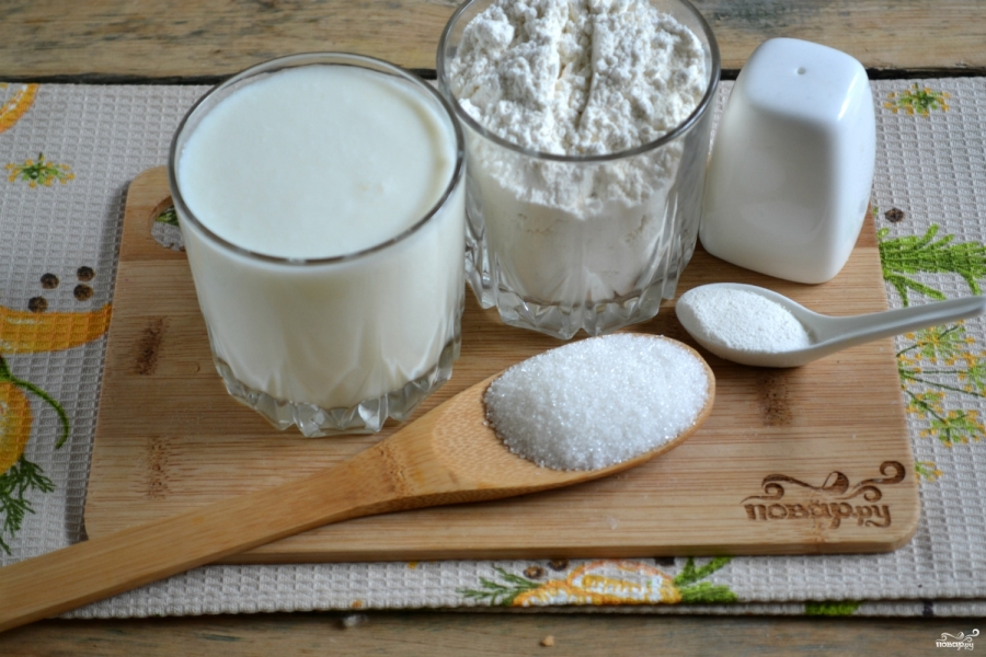 Тесто для хачапури на кефире - фото шаг 1