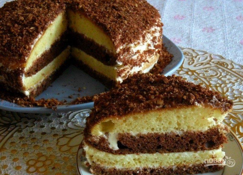 Сметанный торт на кефире
