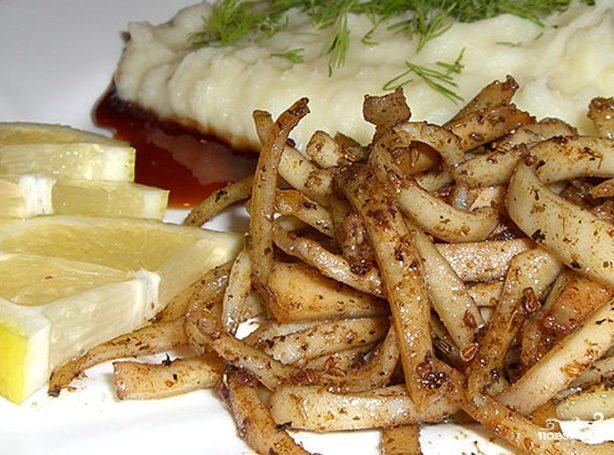 Кальмары с картофелем