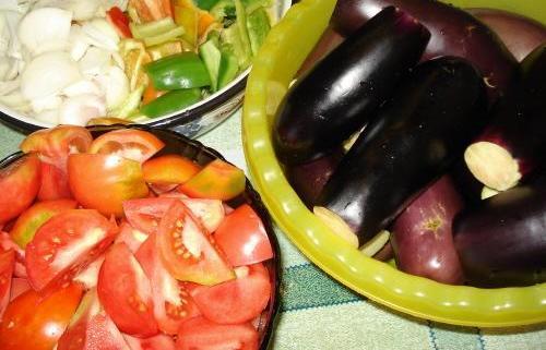 Рецепт Баклажаны на зиму с помидорами