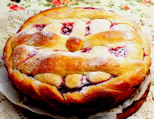 Дрожжевые пироги с ягодами рецепты с фото